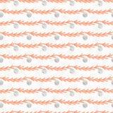 Grijs en Oranje de Snuisterijstrepen van de kerstboomtak vector illustratie