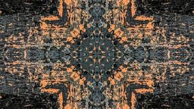 Grijs en oranje gestreept grunge abstract ontwerp royalty-vrije illustratie