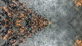 Grijs en oranje gestreept grunge abstract ontwerp stock illustratie