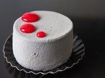 Grijs en Rood Dessert Stock Foto's