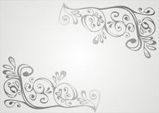 Grijs en wit ornament Stock Fotografie