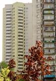 Grijs flatgebouw Stock Afbeelding