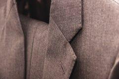 Grijs formeel kostuumdetail stock foto's