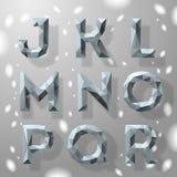 In grijs fractal geometrisch alfabet, deel 2. Stock Foto's