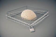 Grijs gebrek aan het vrije denken Stock Afbeeldingen