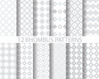 12 grijs geometrisch ruitpatroon 2 Stock Afbeelding