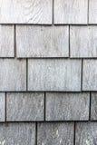 Grijs houten het patroonportret van de dakspaantextuur stock foto
