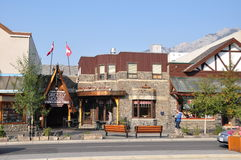 Grijs Huis, Weg Banff royalty-vrije stock afbeelding