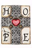 Grijs kruis royalty-vrije stock afbeeldingen