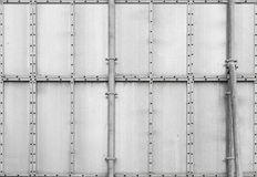 Grijs metaal industrieel paneel. Achtergrondtextuur Stock Foto