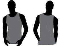 Grijs mouwloos onderhemd Stock Foto's