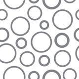 Grijs naadloos zwart-wit cirkelspatroon Stock Fotografie