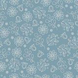 Grijs patroon met bloemen Stock Afbeelding