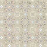 Grijs patroon van korenbloemen in cirkels, Stock Afbeeldingen