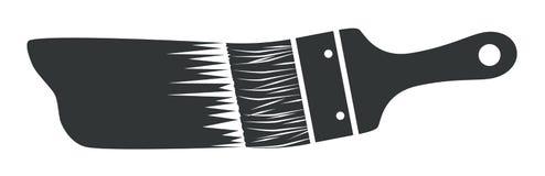 Grijs penseel stock illustratie