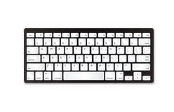 Grijs plastic toetsenbord met witte knopen Stock Fotografie