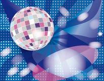 Grijs-roze discokugel Stock Illustratie