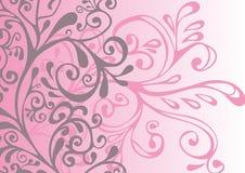 Grijs, roze en wit ornament vector illustratie