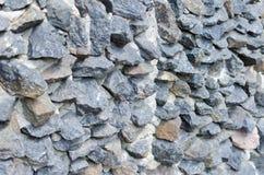 Grijs ruw steenmetselwerk op voorgeveltextuur royalty-vrije stock afbeelding