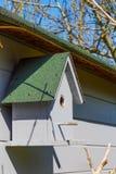 Grijs vogelhuis in een tuin Royalty-vrije Stock Fotografie