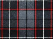 Grijs wolplaid/geruite Schotse wollen stof met streep Stock Afbeeldingen