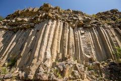 Grijs zuilvormig basalt royalty-vrije stock afbeeldingen