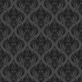 Grijs zwart antiek naadloos behang Stock Foto's