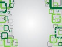 Grijze abstracte achtergrond met kader van groene rechthoeken Vector illustratie Royalty-vrije Stock Fotografie