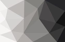 Grijze abstracte veelhoek als achtergrond Royalty-vrije Stock Foto's