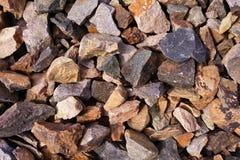 Grijze achtergrond met textuur van macadam en stenen royalty-vrije stock foto