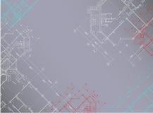 Grijze architecturale horizontale achtergrond Stock Afbeelding