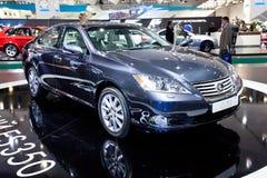 Grijze auto Lexus S 350 royalty-vrije stock afbeelding