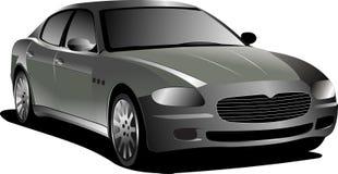 Grijze auto sedan stock illustratie