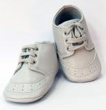 Grijze babyschoenen Stock Afbeelding