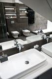 Grijze badkamers stock afbeelding