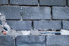 Grijze bakstenen en kabel Stock Foto