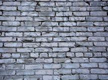 Grijze bakstenen muur stock fotografie