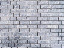 Grijze Bakstenen muurtextuur Stock Foto's