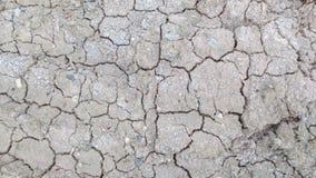 Grijze barst van droge grondachtergrond royalty-vrije stock foto