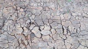 Grijze barst van droge grondachtergrond stock afbeelding