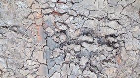 Grijze barst van droge grondachtergrond stock afbeeldingen