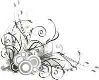 Grijze bloemenachtergrond Stock Afbeeldingen