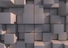 Grijze blokachtergrond Stock Fotografie