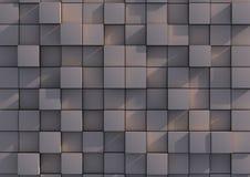 Grijze blokachtergrond Stock Foto's
