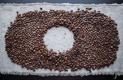 Grijze bruin koffie van de achtergrondelementenboon Royalty-vrije Stock Foto