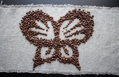 Grijze bruin koffie van de achtergrondelementenboon Royalty-vrije Stock Afbeelding