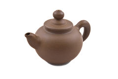Grijze ceramische theepot Stock Afbeelding