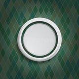 Grijze cirkel op groene ruiten Royalty-vrije Stock Foto's