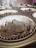 grijze cupcake royalty-vrije stock foto