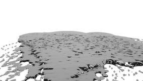 Grijze dalingen die op witte oppervlakte langzame motie vallen Gekleurd water vector illustratie